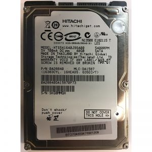 "0A28840 - Hitachi 40GB 5400 RPM SATA 2.5"" HDD"