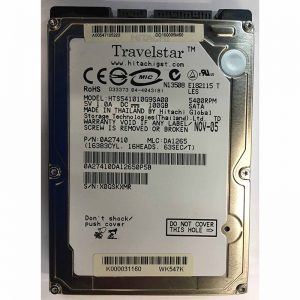 "0A27410 - Hitachi 100GB 5400 RPM SATA 2.5"" HDD"