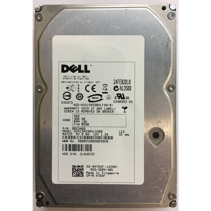 "HUS15454VLS300 Hitachi 450GB SAS 15,000rpm 15K 3.5/"" hard drive HDD 520BLOCK SIZE"