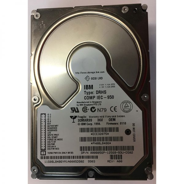 "0008056P - Dell 36GB 10K  RPM SCSI 3.5"" HDD U160 68 pin"
