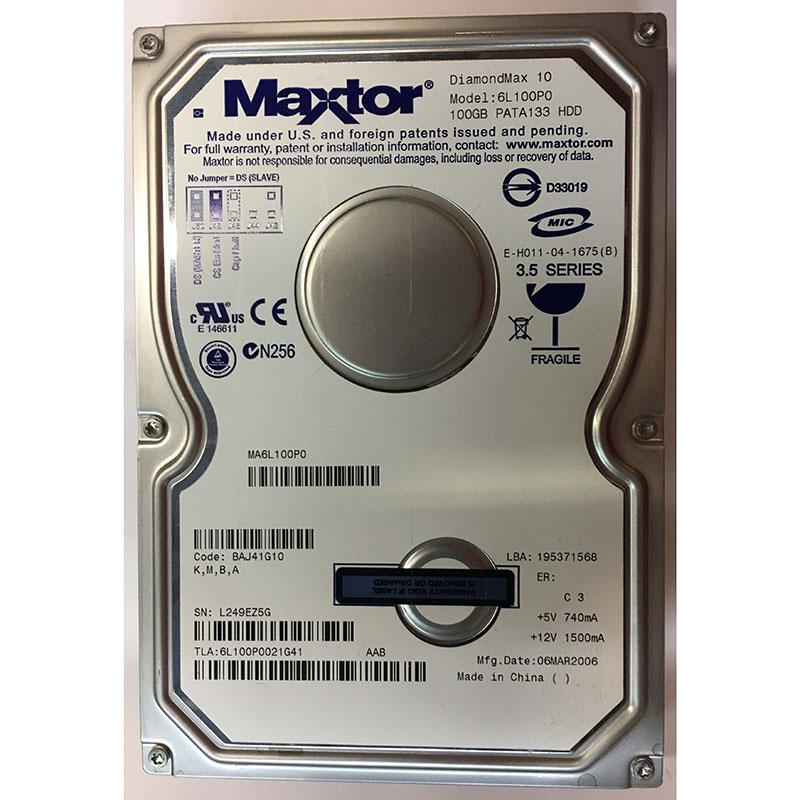 Maxtor 6L100P0021402 100GB 7200RPM IDE Internal Hard Drive