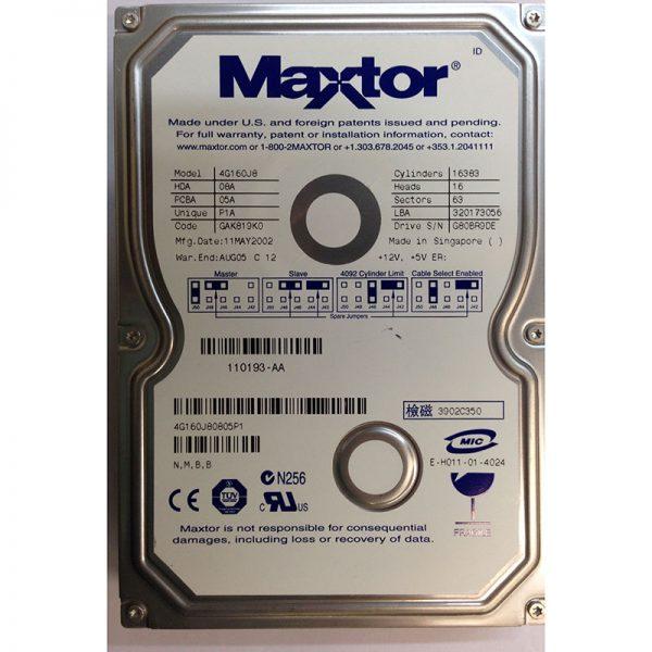"""4G160J80805P1 - Maxtor 160GB 5400 RPM IDE 3.5"""" HDD"""