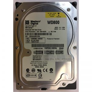 "06P5256 - IBM 80GB 7200 RPM IDE 3.5"" HDD Western Digital WD800BB version"