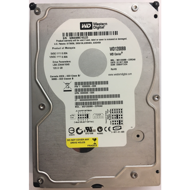 WESTERN DIGITAL WD1200BB 120GB 7200 RPM IDE