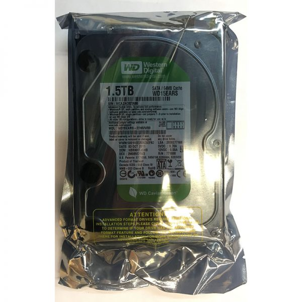 """WD15EARS - Western Digital 1.5TB 5400 RPM SATA 3.5"""" HDD factory sealed"""