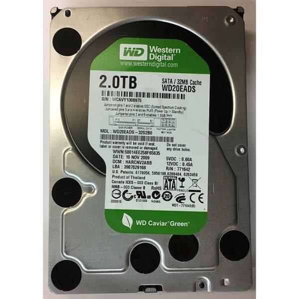 """WD20EADS-32S2B0 - Western Digital 2TB 7200 RPM SATA 3.5"""" HDD"""