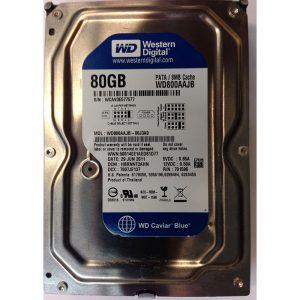 """WD800AAJB-00J3A0 - Western Digital 80GB 7200 RPM IDE 3.5"""" HDD"""
