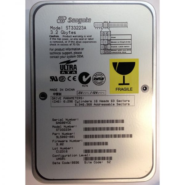 "ST33223A - Seagate 3.2GB 4500 RPM IDE 3.5"" HDD"