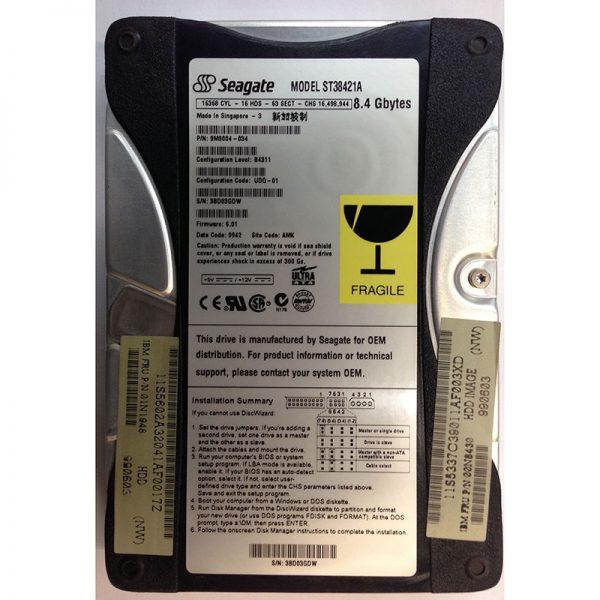 """9M9004-034 - Seagate 8.4GB 5400 RPM IDE 3.5"""" HDD"""