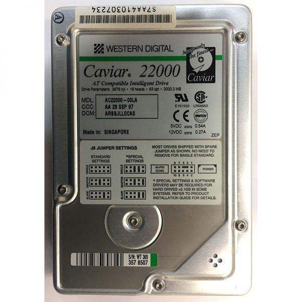 """AC22000-00LA - Western Digital 2GB 5400 RPM IDE 3.5"""" HDD"""