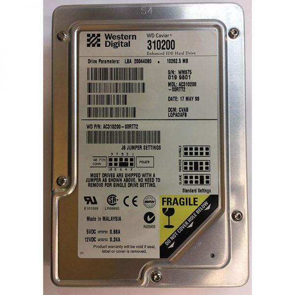 """AC310200-00RTT2 - Western Digital 10GB 5400 RPM IDE 3.5"""" HDD"""