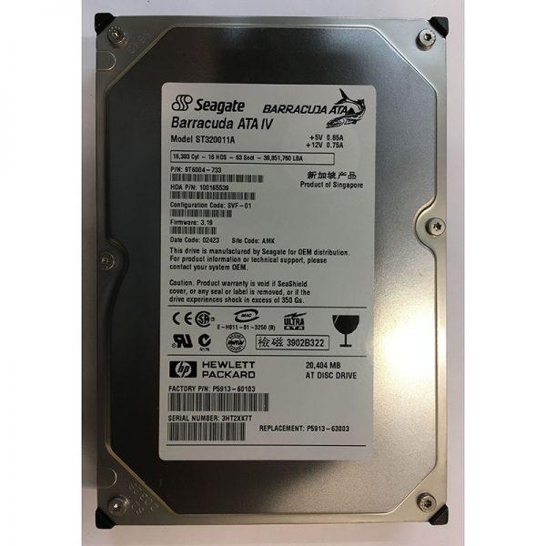 """9T6004-733 - Seagate 20GB 7200 RPM IDE 3.5"""" HDD"""