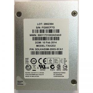 """SDLKAE6M-200G-5CA1 - Sandisk 200GB SSD SAS 2.5"""" HDD"""