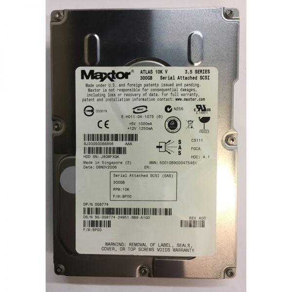 "0G8774 - Maxtor 300GB 10K  RPM SAS 3.5"" HDD"