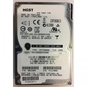 "0B23909 - Hitachi 600GB 10K  RPM SAS 2.5"" HDD w/ IBM tray"