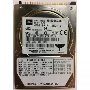 """HDD2189F - Toshiba 60GB 4200 RPM IDE 2.5"""" HDD"""