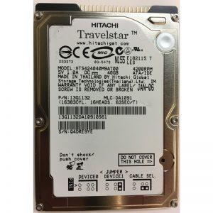 "13G1132 - Hitachi 40GB 4200 RPM IDE 2.5"" HDD"