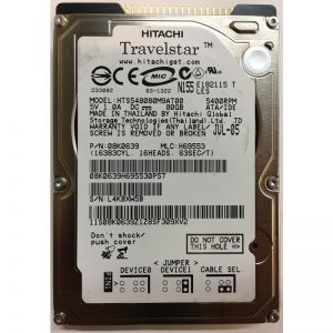 "08K0639 - Hitachi 80GB 5400 RPM IDE 2.5"" HDD"