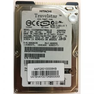 "08K0635 - Hitachi 80GB 4200 RPM IDE 2.5"" HDD"