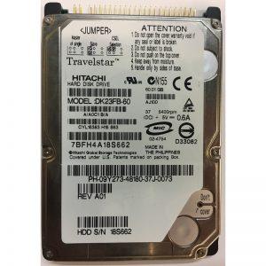 "DK23FB-60 - Hitachi 60GB 5400 RPM IDE 2.5"" HDD"