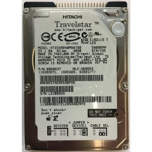"08K0637 - Hitachi 40GB 400  RPM IDE 2.5"" HDD"