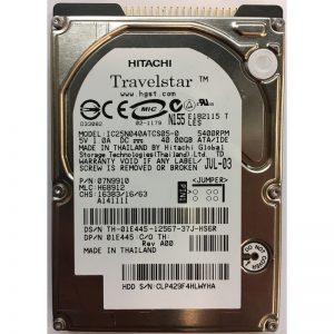 """07N9910 - Hitachi 40GB 5400 RPM IDE 2.5"""" HDD"""