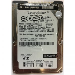 "08K0842 - Hitachi 40GB 4200 RPM IDE 2.5"" HDD"