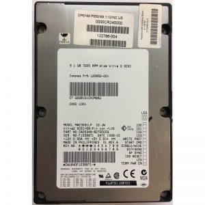 "120852-001 - Compaq 9.1GB 7200 RPM SCSI 3.5"" HDD Utra2 68 pin"