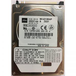 """HDD2166B - Toshiba 40GB 4200 RPM IDE 2.5"""" HDD"""