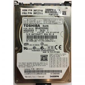"HDD2033T - Toshiba 60GB 5400 RPM SATA 2.5"" HDD"