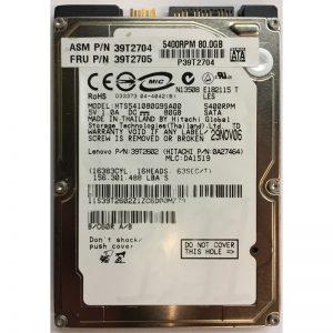 "0A27464 - Hitachi 80GB 5400 RPM SATA 2.5"" HDD"