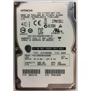 "0B24153 - Hitachi 300GB 10K  RPM SAS 2.5"" HDD"
