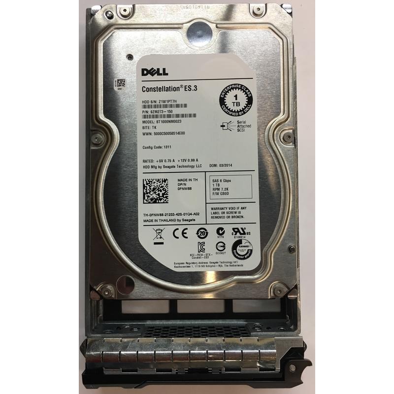 7200RPM 1TB SAS 3.5 HDD 6.0Gp//s Seagate ST1000NM0001