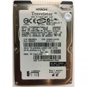 "08K0854 - Hitachi 80GB 4200 RPM IDE 2.5"" HDD"