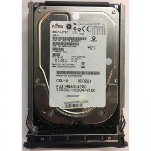 "A3C40093287 - Fujitsu/ Siemens 146GB 15K  RPM SAS 3.5"" HDD w/tray"