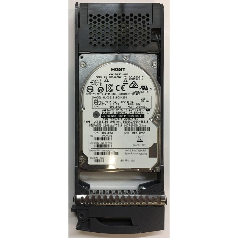 "X422/_SCOMP600A10 10K RPM NetApp 600GB SAS for DS2246// FAS2240// FAS2552 2.5/"""