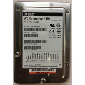 """295155-001 - Western Digital 4.3GB 7200 RPM SCSI 3.5"""" HDD 80 pin"""