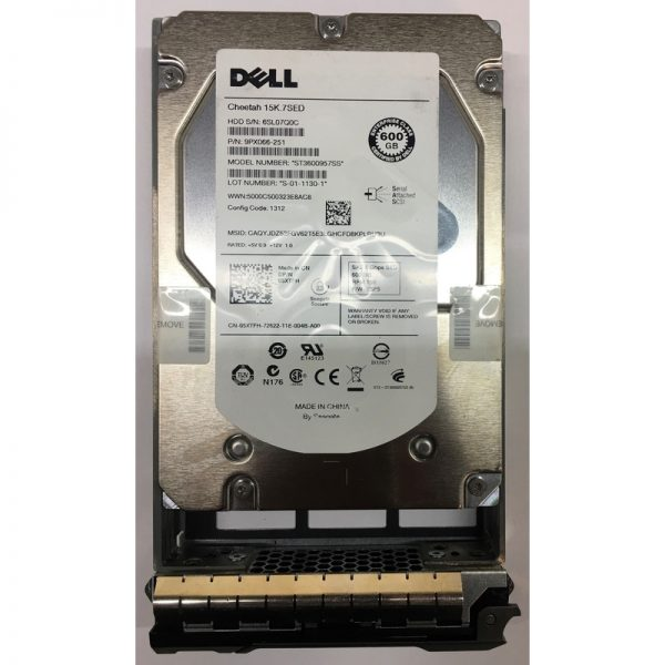 """9PX066-251 - Dell 600GB 15K  RPM SAS 3.5"""" HDD SED"""