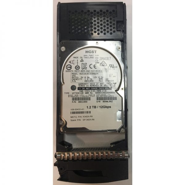 """108-00432+A1 - NetApp 1.2TB 10K  RPM SAS 2.5"""" HDD for DS2246, DS224C, FAS2750, FAS2650"""